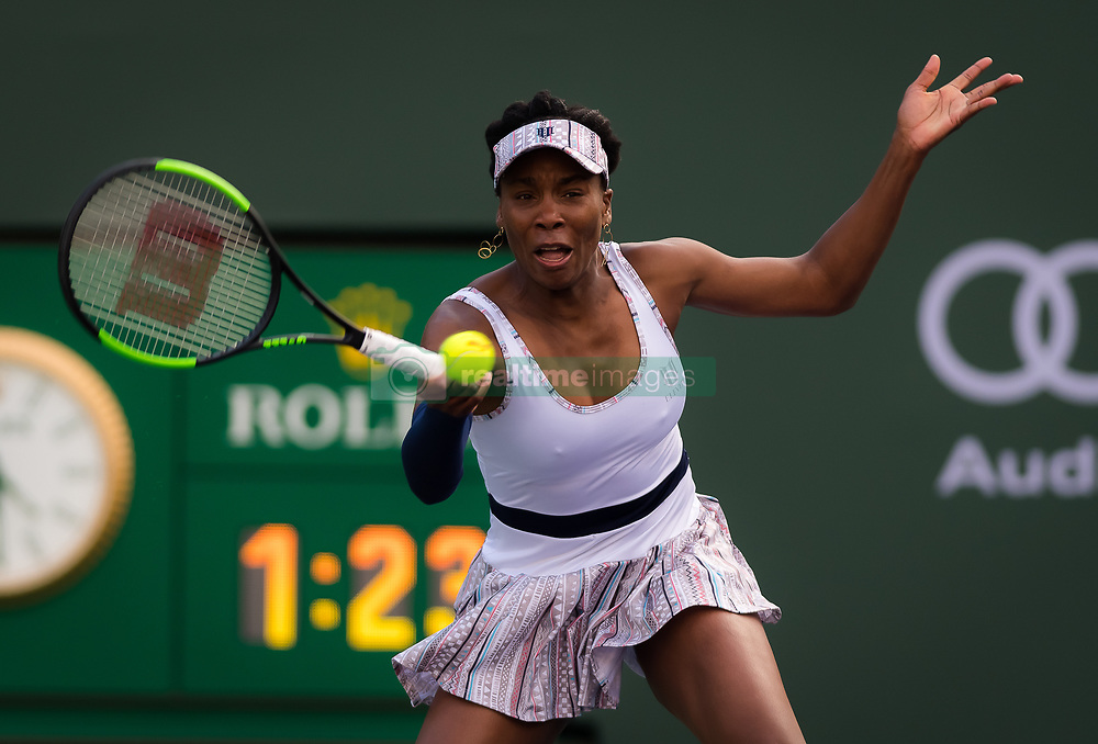 March 9, 2019 - Indian Wells, USA - Venus Williams of the United States in action during her second-round match at the 2019 BNP Paribas Open WTA Premier Mandatory tennis tournament (Credit Image: © AFP7 via ZUMA Wire)