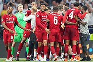 CHAMPIONS Liverpool players celebrate after Liverpool win the UEFA Champions League Final match between Tottenham Hotspur and Liverpool at Wanda Metropolitano Stadium, Madrid, Spain on 1 June 2019.