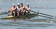 Plovdiv BULGARIA. 2017 FISA. Rowing World U23 Championships. <br /> GBR BM4-, Bow. HURN, Robert, DIGBY, Thomas, ELWES, Charles and CARNEGIE, Sholto<br /> Wednesday. PM,  Heats 17:27:50  Wednesday  19.07.17   <br /> <br /> [Mandatory Credit. Peter SPURRIER/Intersport Images].