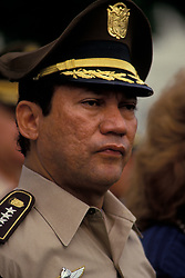 Aug 08, 1988; Panama City, PANAMA; (FILE PHOTO) General MANUEL NORIEGA (born February 11, 1934) was a Panamanian soldier and the de facto military leader of Panama from 1983 to 1989. He was initially a strong ally of the United States and was regularly paid by the CIA from the late 1950s to 1986. By the late 1980s his actions became increasingly unacceptable to U.S. policy-makers, and he was overthrown and captured by a U.S. invading force in 1989, taken to the U.S., offered trial, and imprisoned in 1992. Up to this date, he remains imprisoned in a federal prison in Miami, Florida.  (Credit Image: © Bill Gentile/ZUMAPRESS.com)