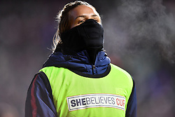 February 27, 2019 - Chester, PA, U.S. - CHESTER, PA - FEBRUARY 27: US Keeper Ashlyn Harris (24) warms up on the sidelines in the second half during the She Believes Cup game between Japan and the United States on February 27, 2019 at Talen Energy Stadium in Chester, PA. (Photo by Kyle Ross/Icon Sportswire) (Credit Image: © Kyle Ross/Icon SMI via ZUMA Press)