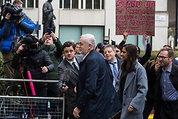 London, UK. 16 November, 2019. Jeremy Corbyn, Leader of the Labour Party, arrives for the Clause V meeting. Credit: Mark Kerrison/Alamy Live News