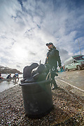 Putney, London,  Tideway Week, Championship Course. River Thames, 'Boot Bins' OUWBC and CUWBC, Boating outside Thames RC, <br /> <br />  Saturday  01/04/2017<br /> <br /> [Mandatory Credit; Credit: Peter SPURRIER/Intersport Images.com ]