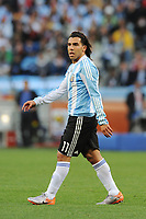 FOOTBALL - FIFA WORLD CUP 2010 - 1/4 FINAL - ARGENTINA v GERMANY - 3/07/2010 - PHOTO FRANCK FAUGERE / DPPI - CARLOS TEVEZ (ARG)