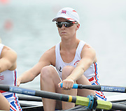 Poznan, POLAND,  GBR LW4X bow Steph CULLEN, before, competing in the lightweight women's quadruple sculls, race for lanes, on the fourth day of the, 2009 FISA World Rowing Championships. held on the Malta Rowing lake,Wednesday  26/08/2009  [Mandatory Credit. Peter Spurrier/Intersport Images]