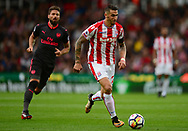 Geoff Cameron of Stoke city in action. Premier league match, Stoke City v Arsenal at the Bet365 Stadium in Stoke on Trent, Staffs on Saturday 19th August 2017.<br /> pic by Bradley Collyer, Andrew Orchard sports photography.