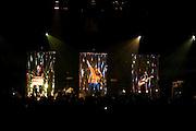Paris, France. 4 Juin 2009.Les Naive New Beaters en concert a L'Elysee Montmartre..De gauche a droite: Eurobelix, David Boring et Martin Luther BB King..Paris, France. June 4th 2009..The Naive New Beaters performs at L'Elysee Montmartre..From left to right: Eurobelix, David Boring and Martin Luther BB King