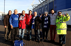 Leicester City and Sevilla fans outside The King Power Stadium ahead of the Champions League fixture between their sides - Mandatory by-line: Robbie Stephenson/JMP - 14/03/2017 - FOOTBALL - King Power Stadium - Leicester, England - Leicester City v Sevilla - UEFA Champions League round of 16, second leg