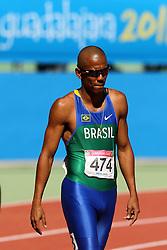 Sandro Viana participa da prova dos 100 metros rasos válida pelos jogos Pan-Americanos de Guadalajara 2011. FOTO: Jefferson Bernardes/Preview.com