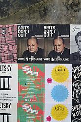 Winston Churchill EU Remain posters, Shoreditch, London June 2016