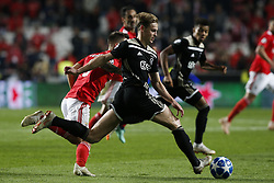 November 7, 2018 - Lisbon, Portugal - Frenkie de Jong of Ajax in action during Champions League 2018/19 match between SL Benfica vs Ajax Amsterdam, in Lisbon, on November 7, 2018. (Credit Image: © Carlos Palma/NurPhoto via ZUMA Press)