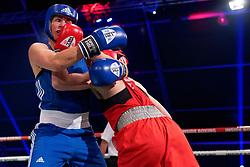 17-11-2019 NED: World Port Boxing Netherlands - Kazakhstan, Rotterdam<br /> 3rd World Port Boxing in Excelsior Stadion Rotterdam / Nouchka Fontijn (NED) in action against Valentina Khalzova (KAZ), 75 kg class