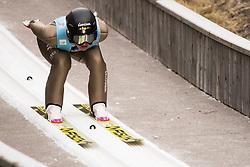 February 7, 2019 - Ljubno, Savinjska, Slovenia - Veronica Gianmoena of Italy competes on qualification day of the FIS Ski Jumping World Cup Ladies Ljubno on February 7, 2019 in Ljubno, Slovenia. (Credit Image: © Rok Rakun/Pacific Press via ZUMA Wire)