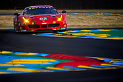 June 13-18, 2017. 24 hours of Le Mans. 82 Risi Competizione, Ferrari 488 GTE, Toni Vilander, Giancarlo Fisichella, Pierre Kaffer