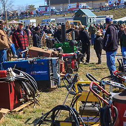 Gordonville, PA, USA - March 10, 2012: Thousands look for bargains at the annual public mud sale to benefit the Gordonville Volunteer Fire Company in Lancaster County, PA.