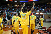 Dallas Madison celebrates after defeating Abilene Wylie during the UIL Conference 3A semifinals at the Frank Erwin Center in Austin on Thursday, March 7, 2013. (Cooper Neill/The Dallas Morning News)