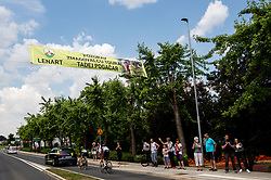 Supporters during 1st Stage of 27th Tour of Slovenia 2021 cycling race between Ptuj and Rogaska Slatina (151,5 km), on June 9, 2021 in Slovenia. Photo by Vid Ponikvar / Sportida