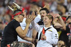 May 27, 2017 - Harrison, New Jersey, U.S - Red Bull supporters during Military Appreciation Night at Red Bull Arena in Harrison New Jersey New York defeats New England 2 to 1 (Credit Image: © Brooks Von Arx via ZUMA Wire)