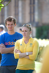 © London News Pictures. 23/07/2012. Tonbridge, Kent. Sally Pearson - 100m hurdles. Photocall for the Australian Olympic Athetics team who are based at Tonbridge School in Kent.