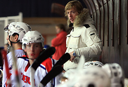 Coach of Slovenia Andrej Brodnik at friendly ice-hockey game between Slovenian National Team U20 and HKMK Bled, before World Championship Division 1, Group A in Herisau, Switzerland, on December 11, 2008, in Bled, Slovenia. (Photo by Vid Ponikvar / Sportida)