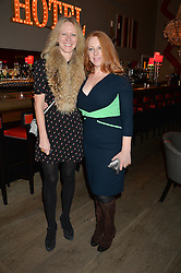 A party to celebrate the publication of renowned international fashion designer and icon Collette Dinnigan's book Obsessive Creative was held at the Ham Yard Hotel, One Ham Yard, London on 16th February 2015.<br /> Picture Shows:-Left to right, FIONA SERES and IMOGEN BANKS