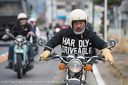 Legendary skate boarder Steve Caballero on the Blue Groove shop ride from Kamakura to Miura Penninsula. Japan. Monday December 4, 2017. Photography ©2017 Michael Lichter.