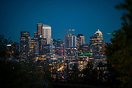 2018 MAY 02 - Evening view of downtown and South Lake Union, Seattle, WA, USA. Seem from near Wallingford. By Richard Walker