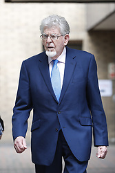 © Licensed to London News Pictures. 30/05/2017. London, UK. Entertainer ROLF HARRIS leaves Southwark Crown Court in London.    Harris, who was jailed on twelve counts of indecent assault on four female victims in 2012, was standing trial accused of further indecent assaults  - but today the jury was dismissed after it failed to reach a verdict and he won't face a retrial. Photo credit: Peter Macdiarmid/LNP