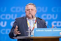 26 FEB 2018, BERLIN/GERMANY:<br /> Klaus-Peter Willsch, MdB, CDU, CDU Bundesparteitag, Station Berlin<br /> IMAGE: 20180226-01-143<br /> KEYWORDS: Party Congress, Parteitag