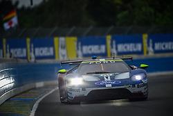 June 14, 2018 - Le Mans, FRANCE - 69 FORD CHIP GANASSI TEAM USA (USA) FORD GT GTE PRO RYAN BRISCOE (AUS) RICHARD WESTBROOK (GBR) SCOTT DIXON  (Credit Image: © Panoramic via ZUMA Press)