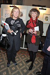 Left to right, VISCOUNTESS BRIDGEMAN and LINDY, MARCHIONESS OF DUFFERIN & AVA at a private view of The Secret Garden and A Little Princess an exhibition of original watercolours by Graham Rust held at St.Wilfrid's Hall, The Brompton Oratory, London on 2nd October 2012.