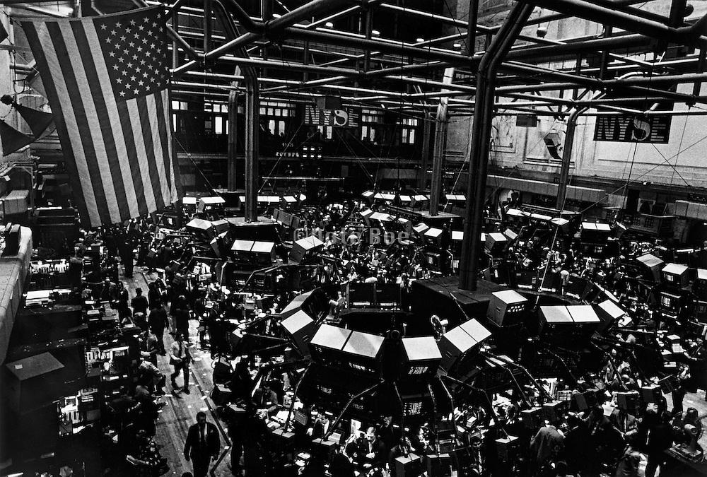 The New York Stock Exchange trading floor