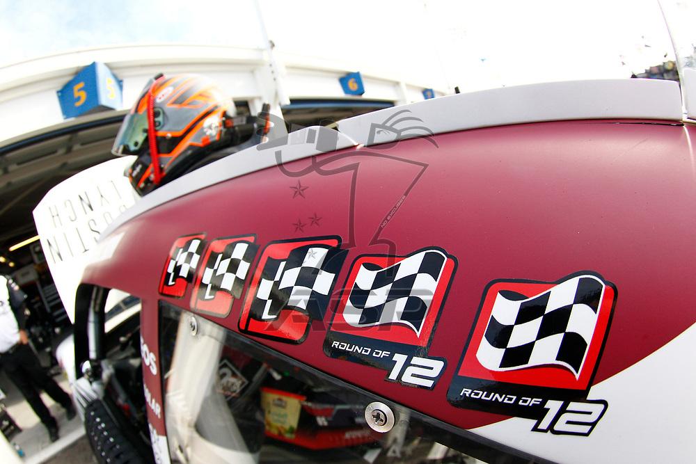 October 20, 2017 - Kansas City, Kansas, USA: The NASCAR Xfinity Series teams take to the track to practice for the Kansas Lottery 300 at Kansas Speedway in Kansas City, Kansas.