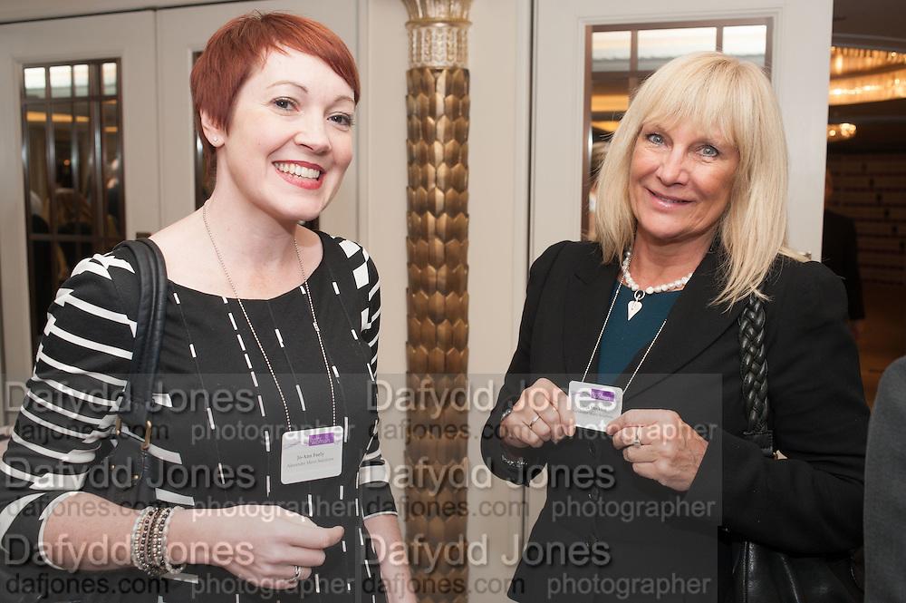 JO-ANN FEELY; SONJA STOCKTON, Natwest Everywoman awards reception. The Dorchester Hotel. London. 5 December 2012.