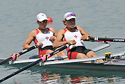 Banyoles, SPAIN,  CAN  LW2X, (b) JENNERICH Lindsay  and PRESTON Sheryl, lightweight women's Double Sculls, FISA World Cup Rd 1. Lake Banyoles  Saturday, 30/05/2009,  [Mandatory Credit. Peter Spurrier/Intersport Images]