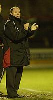 Photo: Aidan Ellis.<br /> York City v Bristol City. The FA Cup. 11/11/2006.<br /> Bristol's manager encourages his team