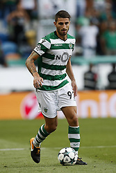 August 15, 2017 - Lisbon, Portugal - Sporting's defender Cristiano Piccini in action during Champions League 2017/18, first playoff round match between Sporting CP vs FC Steaua Bucuresti, in Lisbon, on August 15, 2017. (Credit Image: © Carlos Palma/NurPhoto via ZUMA Press)