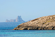 View of Es Vedra from Ses Illetes beach, Formentera