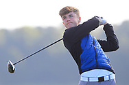 Joshua McCabe (Roganstown) on the 2nd tee during Round 2 of the Ulster Boys Championship at Donegal Golf Club, Murvagh, Donegal, Co Donegal on Thursday 25th April 2019.<br /> Picture:  Thos Caffrey / www.golffile.ie