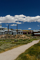 Bodie Ghost Town Gold Mine Panorama. Four of seven portrait images taken with a Nikon D3s camera and 50 mm f/1.4G lens (ISO 800, 50 mm, f/16, 1/200 sec). Raw images processed with DxO and the panorama created using AutoPano Giga Pro.