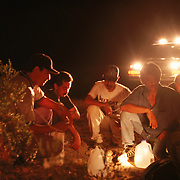 A group of undocumented migrants are caught in the desert near Yuma, Arizona. Please contact Todd Bigelow directly with your licensing requests.