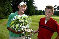 LEUSDEN - Joost Steenkamer en Bernard van Geelkerken.  Stern Open 2003 op de Hoge Kleij. COPYRIGHT KOEN SUYK