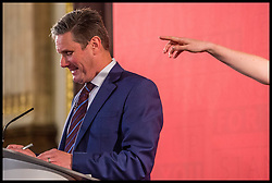April 25, 2017 - London, London, United Kingdom - Keir Starmer, Shadow Secretary of State for Exiting the European Union outlining the Labour Party's Brexit strategy during his speech at Number One George Street in Central London. (Credit Image: © Pete Maclaine/i-Images via ZUMA Press)