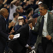 Coach Kevin Ollie, UConn, celebrates victory during the UConn Huskies Vs Tulsa Semi Final game at the American Athletic Conference Men's College Basketball Championships 2015 at the XL Center, Hartford, Connecticut, USA. 14th March 2015. Photo Tim Clayton