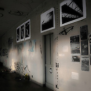 Graffiti and photo exibition in old occupied factory in Milan, for a rave party.