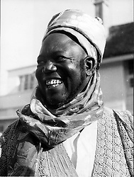 Jan. 16, 1966 - Lagos, Nigeria - SIR AHMADU BELLO Premier of the Northern Nigeria and his wife were among a number of prominent pro-Government supporters killed by Rebels. PICTURED: Bello standing on the street of Lagos. (Credit Image: © Keystone Press Agency/Keystone USA via ZUMAPRESS.com)