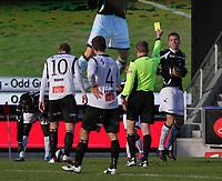 Fotball , 1. april 2012, Tippeligaen Eliteserien , Sogndal - Hønefoss<br /> 10 Ørjan Hopen, 4 Hanu Patronen, Sogndal. 4 Helge Haugen, 21 Remond Macougne Mendy, Hønefoss<br /> Foto: Christian Blom , Digitalsport