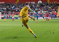 Football - 2017 / 2018 Sky Bet EFL League One - Play-Off Semi-Final, First Leg: Charlton Athletic vs. Shrewsbury Town<br /> <br /> Dean Henderson (Shrewsbury Town FC) clears the ball from just outside of his box at The Valley<br /> <br /> COLORSPORT/DANIEL BEARHAM