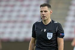 Dommer Jochem Kamphuis (Holland) under U21 EM2021 Kvalifikationskampen mellem Danmark og Ukraine den 4. september 2020 på Aalborg Stadion (Foto: Claus Birch).