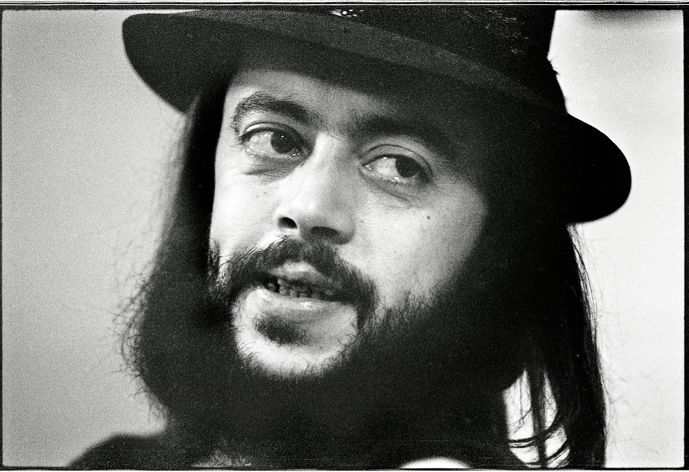 Chuck Mangione being interviewed in Columbia, Missouri, 1977 or 1978.  He performed and hosted a workshop for students.